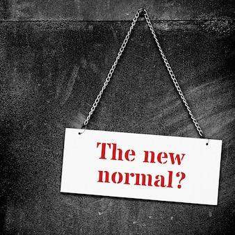 Die neue normalität während des coronavirus-ausbruchs hintergrund