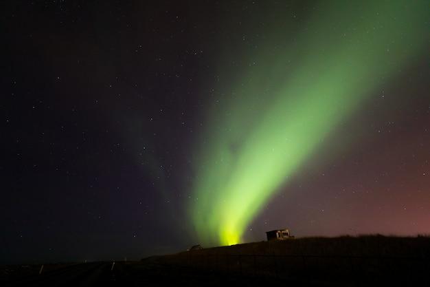 Die nordlicht-aurora borealis island