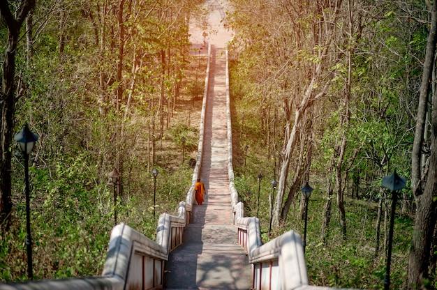 Die reise der mönche auf dem mittelweg dharma
