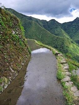 Die reisterrassen in banaue philippinen