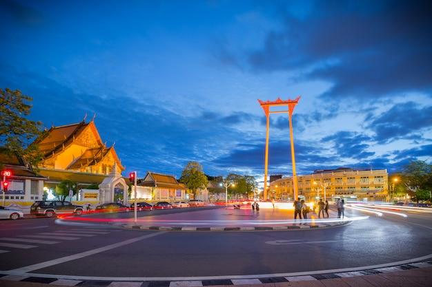Die riesenschaukel (thai: sao chingcha) ist eine religiöse struktur in bangkok, thailand.