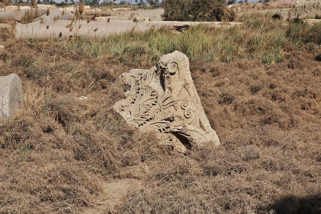 Die römischen ruinen in el minya, ägypten