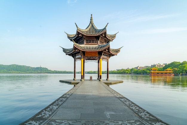 Die schöne landschaft von westsee in hangzhou