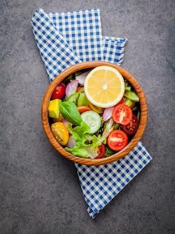 Die schüssel des gesunden strengen vegetariers
