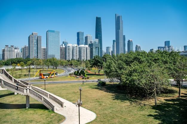 Die skyline der modernen architektur in guangzhou, china