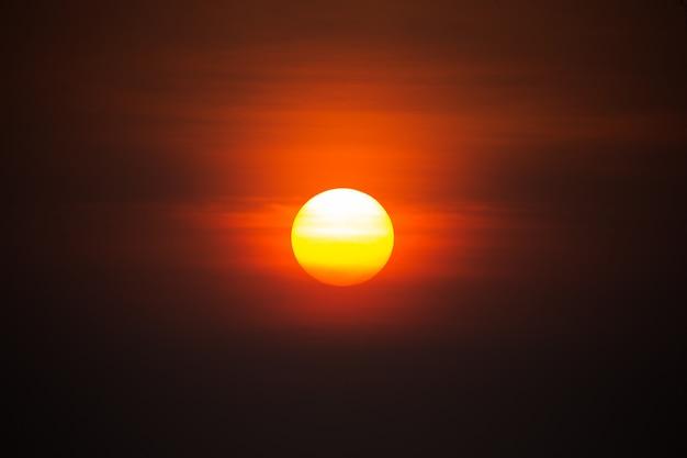 Die sonne, der himmel, der abend