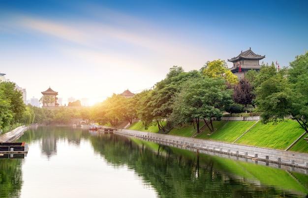 Die stadtmauer von xi'an ist die vollständigste alte stadtmauer in china.