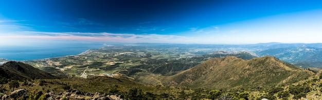 Die straße von gibraltar aus der sierra bermeja
