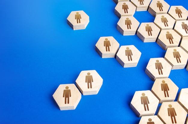 Die struktur einer gesellschaft aus sechsecken