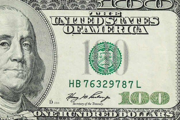 Die stückelung von hundert dollar