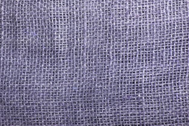 Die textur der groben sackleinen nahaufnahme. sackleinen textur hintergrund