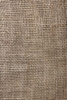 Die textur der groben sackleinen nahaufnahme