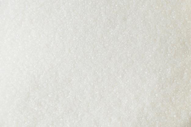 Die textur der weißzucker-nahaufnahme.