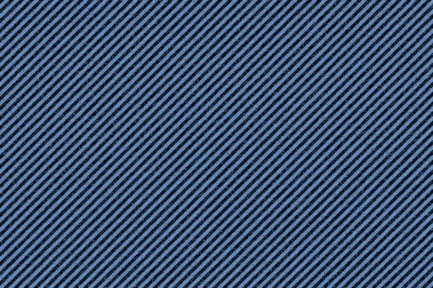 Die textur des blauen stoffes mit schwarzen streifen. denim hintergrund