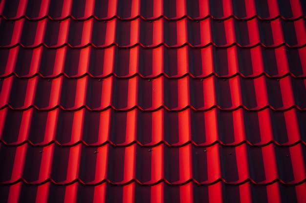 Die textur des daches.