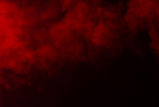 Die textur des rauches auf einem schwarzen hintergrund