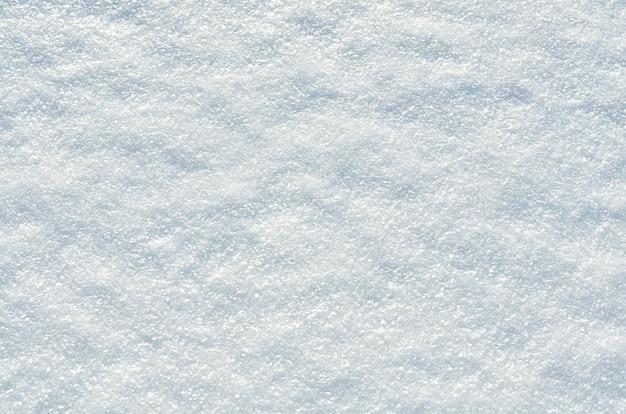 Die textur des schnees im selektiven fokus