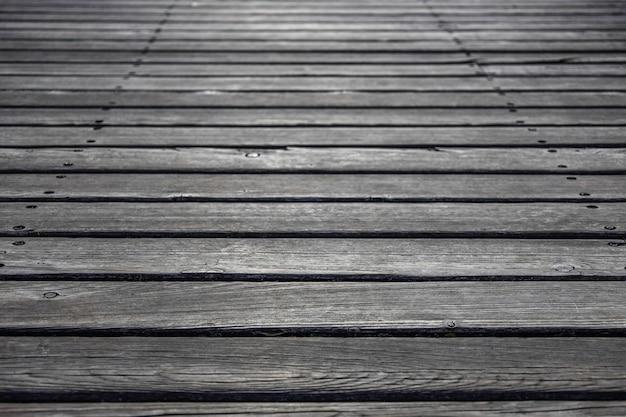 Die textur von vintage outdoor holzboden hintergrund