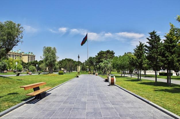Die ufergegend in baku-stadt, aserbaidschan