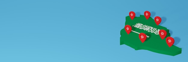 Die verwendung von pinterest auf arabisch für die bedürfnisse von social media-tv und website-hintergrund deckt leerzeichen ab