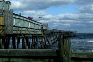 Die verzerrte pier