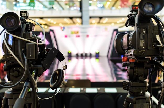 Die videokamera hat den fokus
