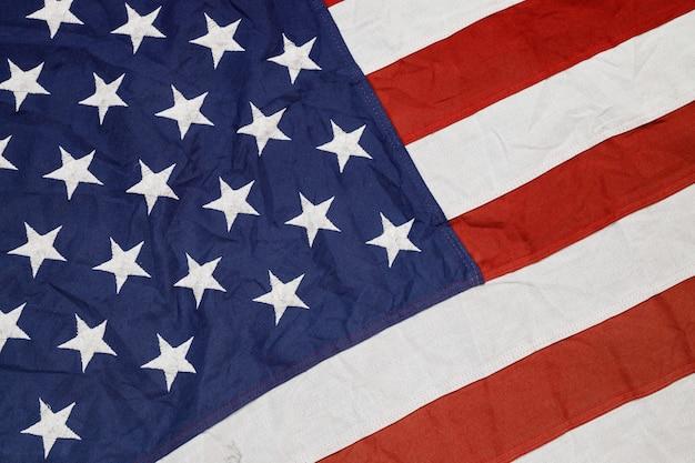 Die wehende amerikanische flagge der usa.
