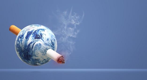 Die welt der wiedergabe 3d kein tabaktagesbildhintergrund.