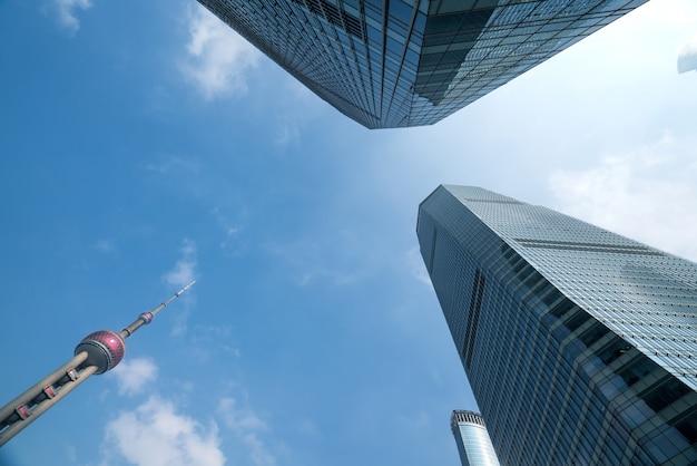 Die wolkenkratzer des finanzplatzes, shanghai, china