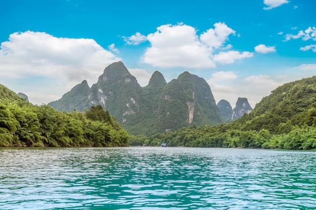 Die wunderschöne landschaft von guilin, guangxi