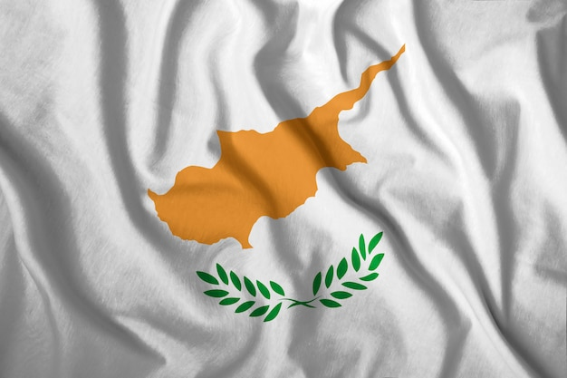 Die zypern-flagge