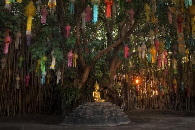 Dies ist das bild von wat phantao, buddhistischer tempel in chiang mai, thailand