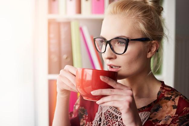 Dies ist der perfekte moment für kaffee