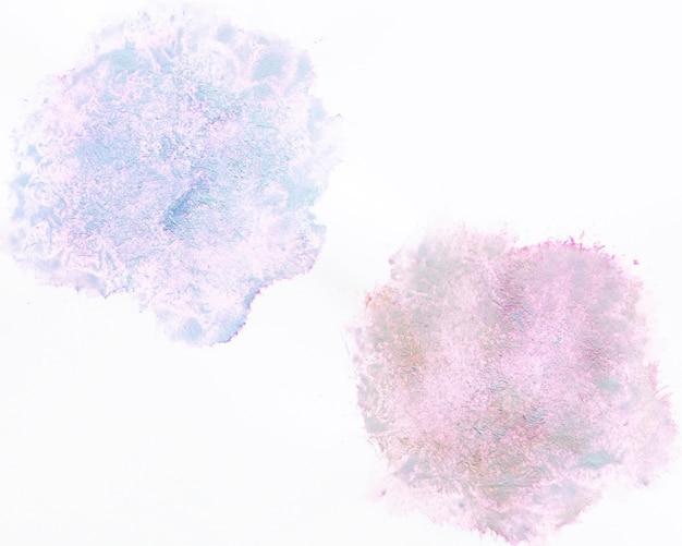 Diffuse warme und kalte aquarellkreise