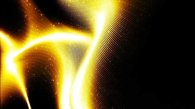 Digital-abstrakter goldfarbwellenhintergrund für ihr geschäft