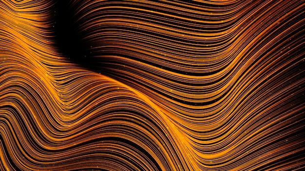 Digital-abstrakter goldfarbwellenhintergrund