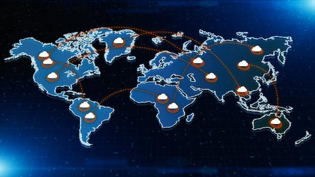 Digital cloud computing und digitale datennetzwerkverbindungen