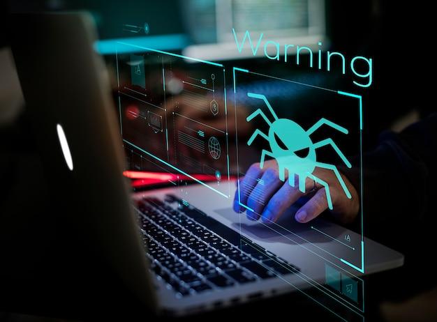 Digital crime von einem anonymen hacker