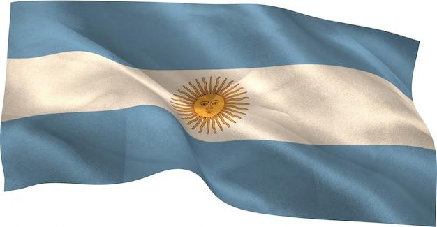Digital erzeugte argentinien-staatsflagge
