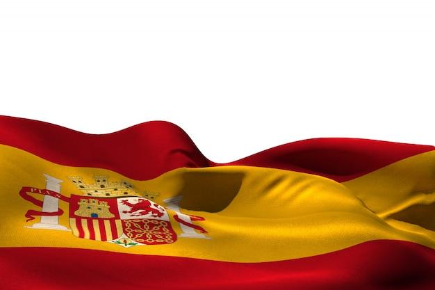 Digital erzeugte spanien-flaggenplätschern