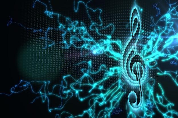 Digital erzeugter musikhintergrund