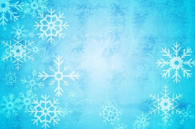 Digital erzeugtes blaues schneeflocken-musterdesign