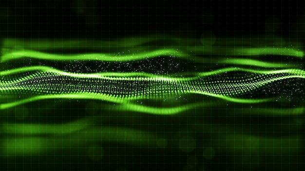 Digital-grüne farbwellen-zusammenfassungshintergrund