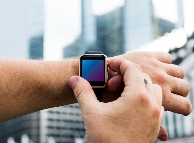Digitale armbanduhr