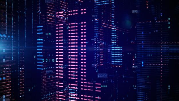 Digitale cyberspace- und datennetzwerkverbindungen.