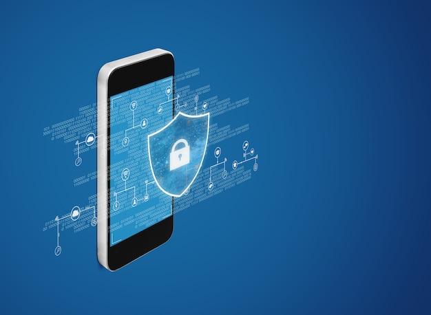 Digitale datensicherheits- und handysicherheitstechnologie