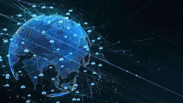 Digitale hintergrunddaten 5g-konnektivität