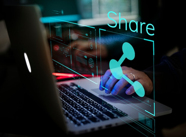 Digitale kriminalität durch einen anonymen hacker