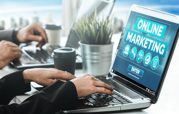 Digitale marketing-technologielösung für das online-geschäftskonzept