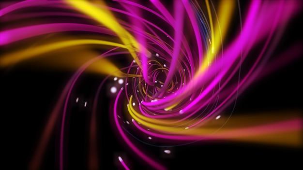 Digitale mehrfarbige strings, die sich verdrehen